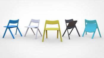 Curva folding chair